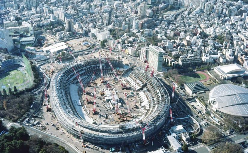New National Stadium (2017). Photo © Takashi Homma.