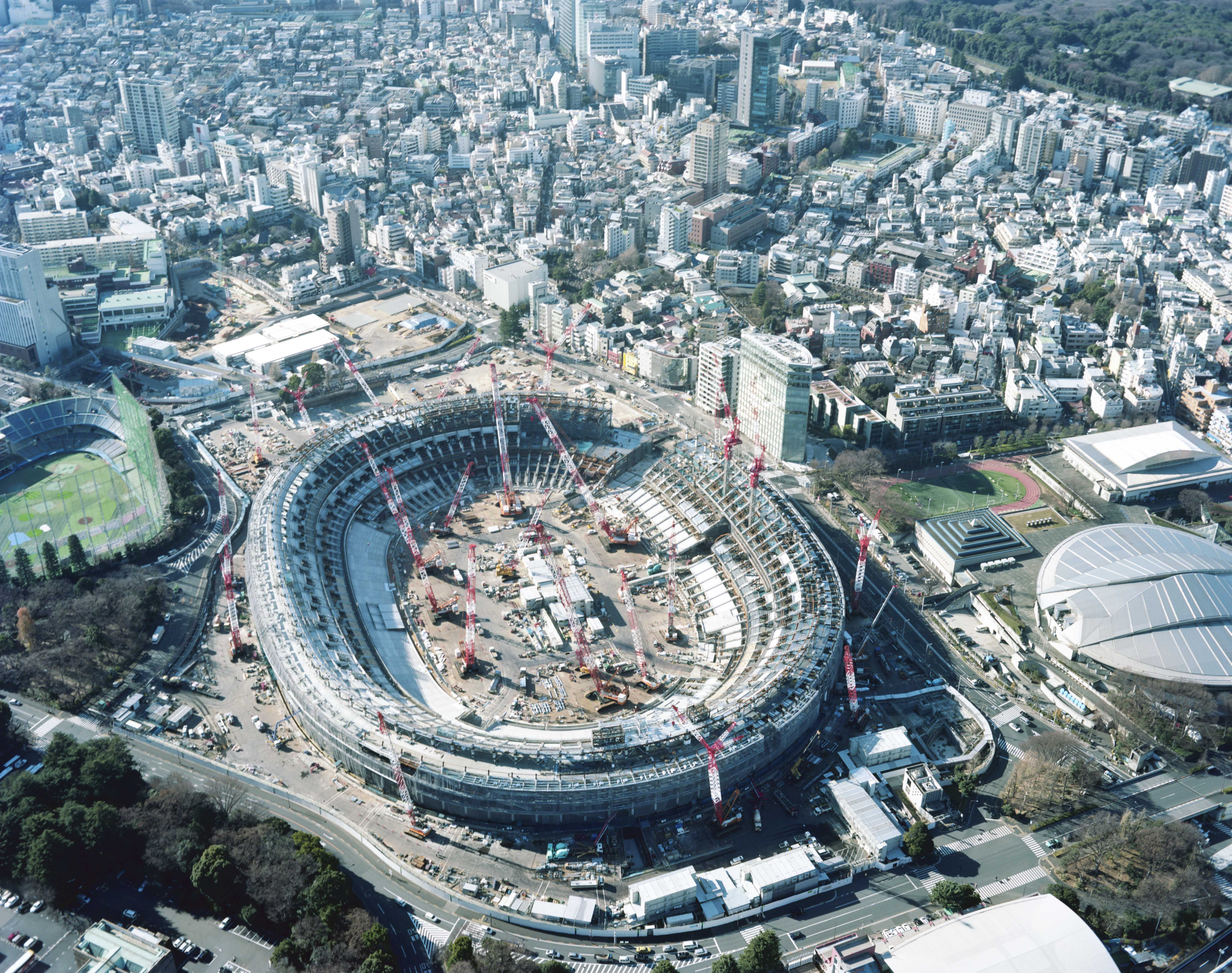 New National Stadium (2017). Photo © Takashi Homma.
