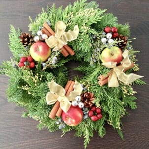 Fresh Christmas Wreath Class